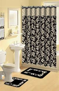 bathroom curtain and rug sets home dynamix boutique deluxe shower curtain and bath rug