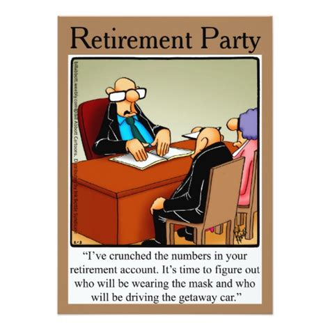 printable retirement jokes funny retirement humor party invitations zazzle