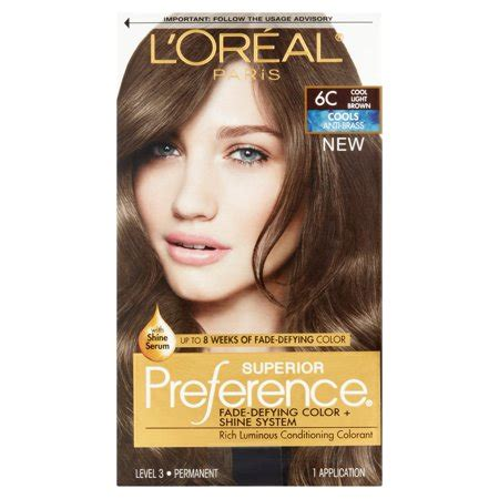 coloring l oreal hair color unique l oreal garnier color sensation 30 2014 24 best of l l oreal superior preference fade defying color shine hair color 6c cool light brown 1