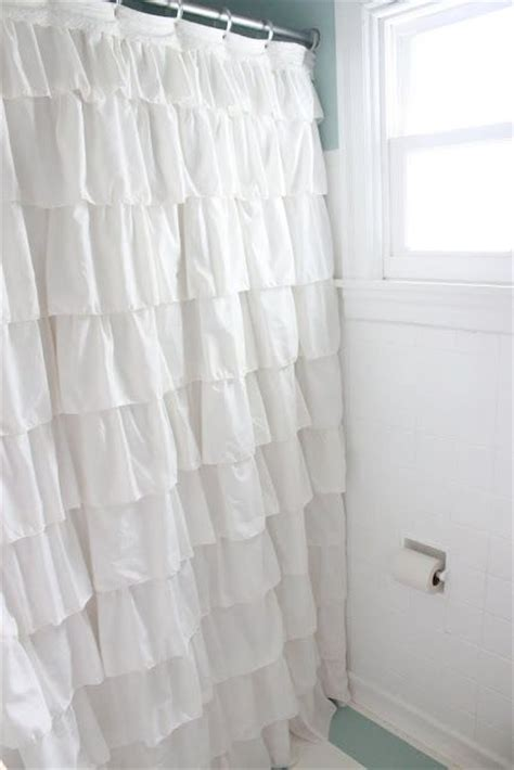 ruffled curtains diy 25 best ideas about ruffle shower curtains on pinterest