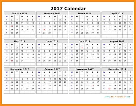 Calendar By Week Number 2017 Calendars With Week Numbers 2017 2018 Cars Reviews