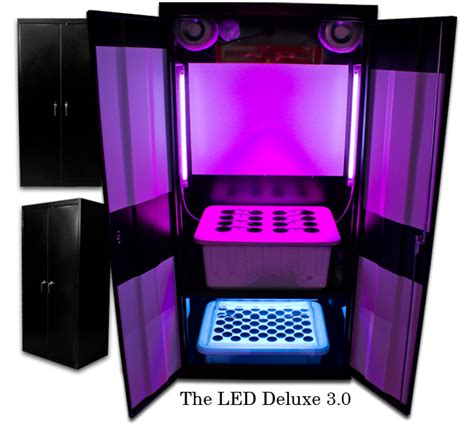Grow Closet Kit by Led Grow Box Led Grow Cabinet Led Hydroponic Box