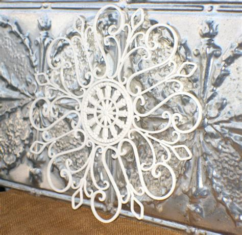 White Metal Wall Decor metal wall medallion white by