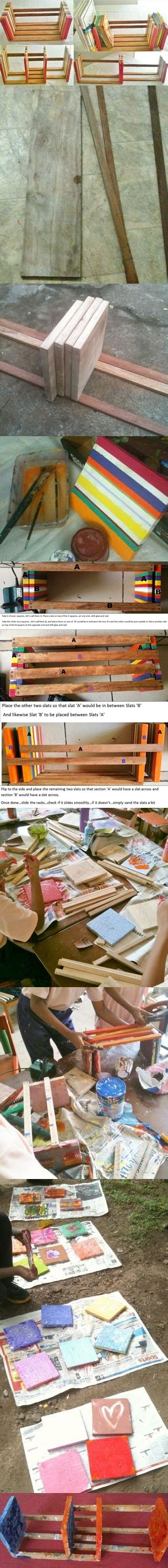 how to make your own adjustable table top book rack step