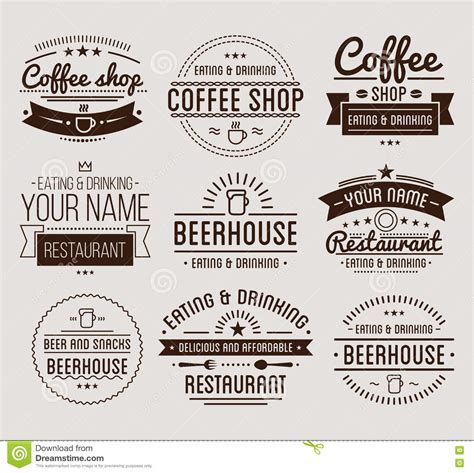 design beer label illustrator vintage logo coffee shop template restaurant label