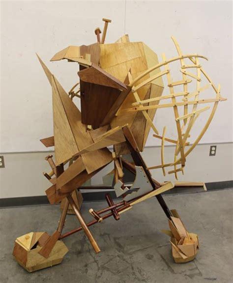 Lu Wood new wood sculpture on cus 187 prattmwp
