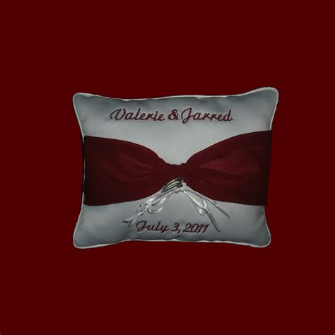 Personalized Ring Bearer Pillows by Personalized Ring Bearer Pillow Wedding Accessories