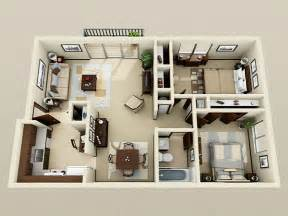 Two Bedroom Apartment Design Ideas 2 Bedroom Apartments Bedroom Apartment Decorating Ideas Apartment Apartment
