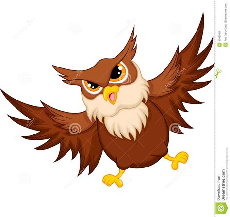 flying owl clipart owl flying stock vector image 40959984