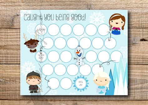printable frozen sticker chart kids reward chart frozen reward chart printable instant