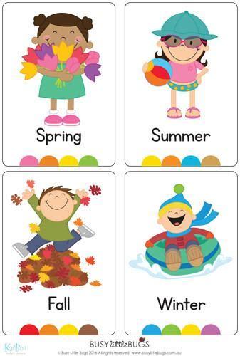 Classroom Decor Themes Seasons Flash Cards Busy Little Bugs