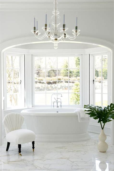 hollywood regency bathroom arched alcove with bay window tub hollywood regency
