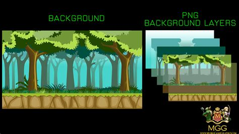 vector parallax background mobile game graphics