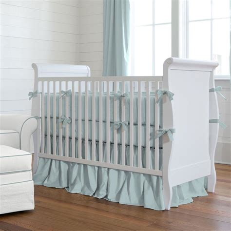 solid robin s egg blue crib bedding carousel designs