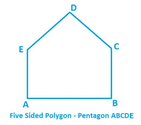 pentagon 5 sided polygon math 28 images how to find