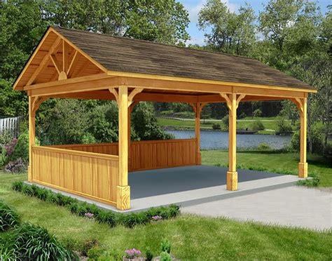 treated pine gable roof open rectangle gazebos with cedar