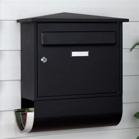wall mounted locking castle locking wall mount mailbox with newspaper roll