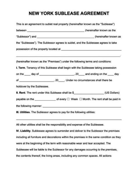 commercial sublet lease agreement template commercial sublet lease agreement template