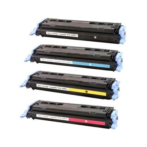 Toner Q6000a hp 124a toner set q6000a q6001a q6002a q6003a remanufactured toner set of 4 color