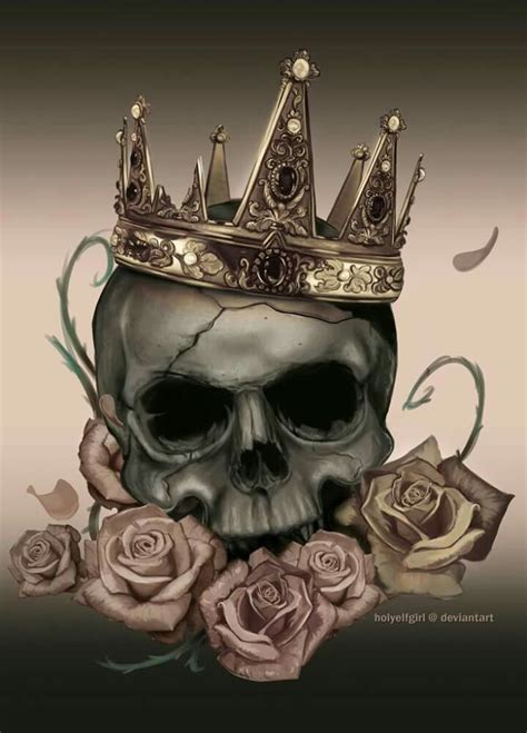 skull with crown tattoo roses and crown more pins like this one at