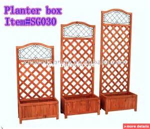 wooden flower planter box with trellis china flower pots