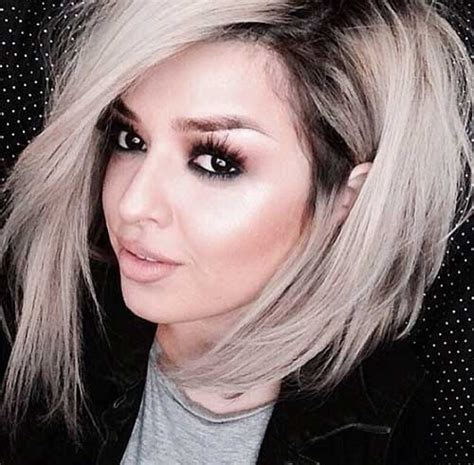 Blonde Bobs With Dark Roots | 20 chic short medium hairstyles for women bob hairstyles
