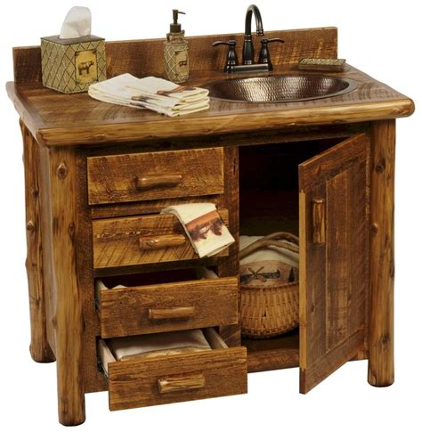 Cabin Bathroom Vanity Best 25 Small Rustic Bathrooms Ideas On Small Cabin Decor Cabin Bathroom Decor And