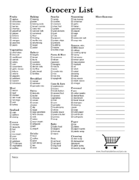 free printable shopping list form free printable grocery list form calendar template 2016
