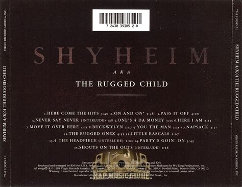 Shaheem The Rugged Child by Shyheim The Rugged Child Cd Rap Guide