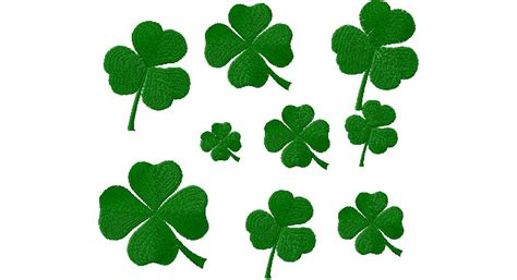 Now Designs Kitchen Towels by Free St Patrick S Day Clovers Machine Embroidery Design