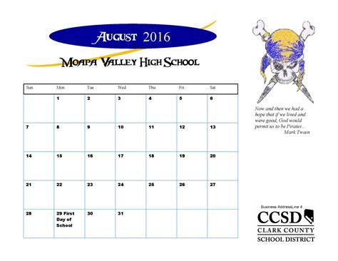 Blue Valley School Calendar Calendar Of Events Moapa Valley High School