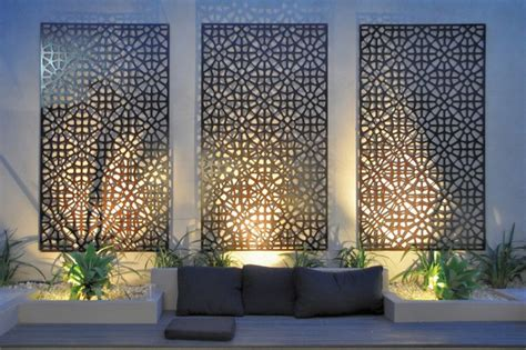 metal garden wall outdoor grail outdoor screen and wall contemporary