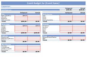 event planning budget template event budget template printable templates