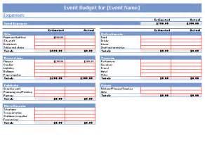 event budget template event budget template printable templates