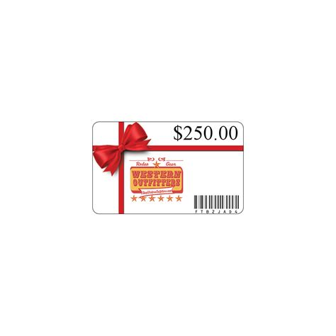 250 Gift Card - 250 gift card western outfitters