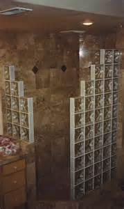 servicelane open corner glass block shower