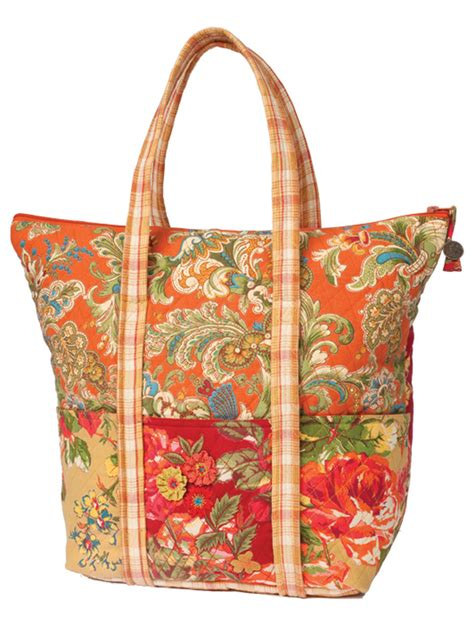 Patchwork Tote Bags - indian summer patchwork tote bag beautiful finds