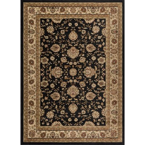 cheap black rugs sale tayse rugs elegance black 5 ft x 7 ft traditional area rug 5143 black 5x7 the home depot