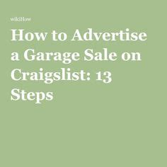 How To Post A Garage Sale On Craigslist great for garage sales or auctions this printable