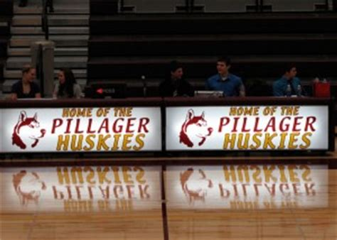 pillager high school minnesota husky logo design