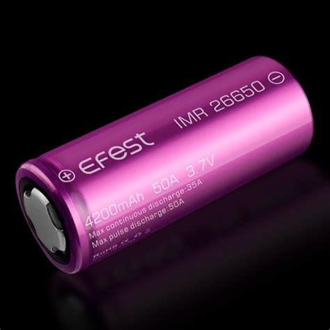 Efest Imr 26650 Battery 4200mah 3 7v 50a Flat Top 26650v1 Purple Ungu efest imr 26650 4200mah 3 7v 35a flat top ungesch 252 tzt li ionen akku ef2665035a steam time de