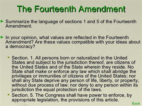 section 5 of 14th amendment the gilded age