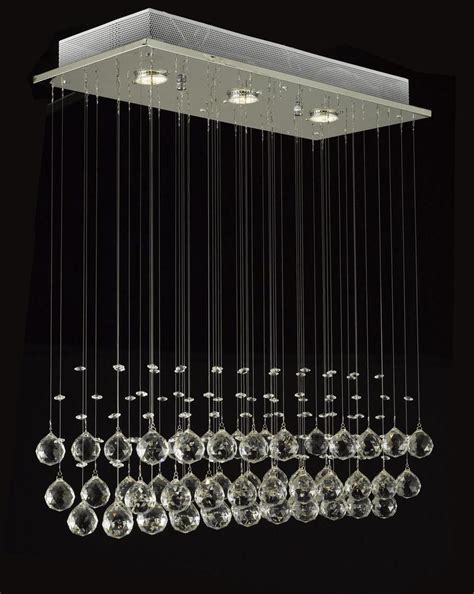 J10 C9074 339 Gallery Modern Contemporary Raindrop Raindrop Chandelier Crystals