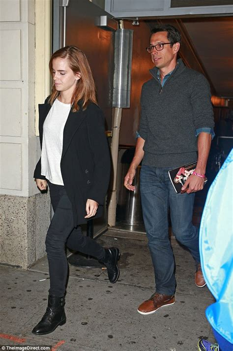 emma watson mack knight emma watson and william knight saw hamilton on broadway
