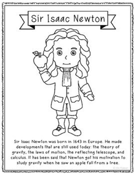 isaac newton biography project sir isaac newton coloring page craft or poster stem