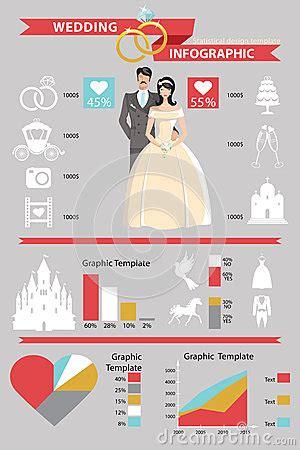 wedding infographic set. retro cartoon bride and stock