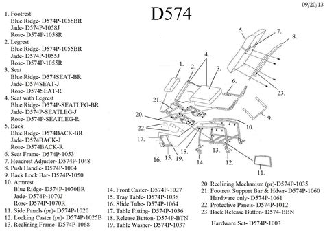 3 position recliner replacement parts parts for d574