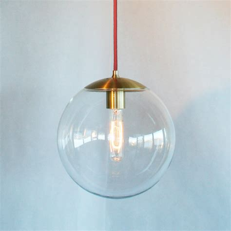 Pendant Light Globes Modern Mid Century Globe Pendant Light Clear 10 Globe