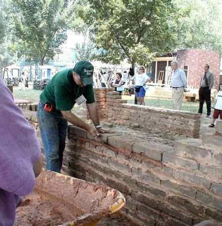 Adobe brick laying buildings cob pinterest
