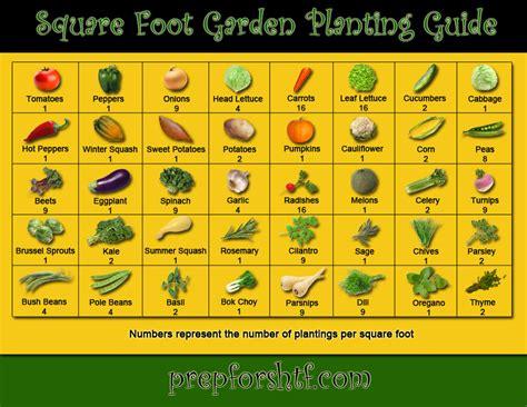 Vegetable Garden Guide Square Foot Garden Planting Guide Preparing For Shtf